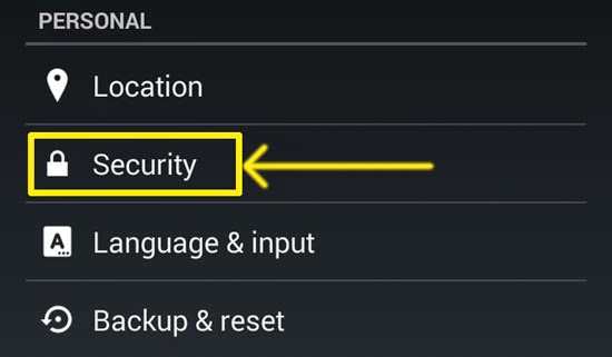 security-options-android