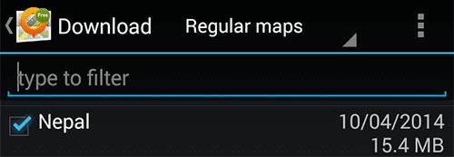 Download Offline Maps in OSMAnd