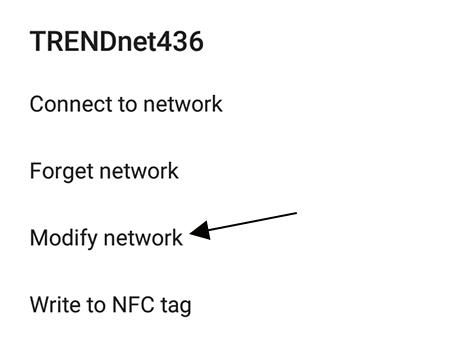 Modify network