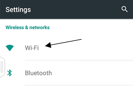 Wi-Fi Options in Android System Settings