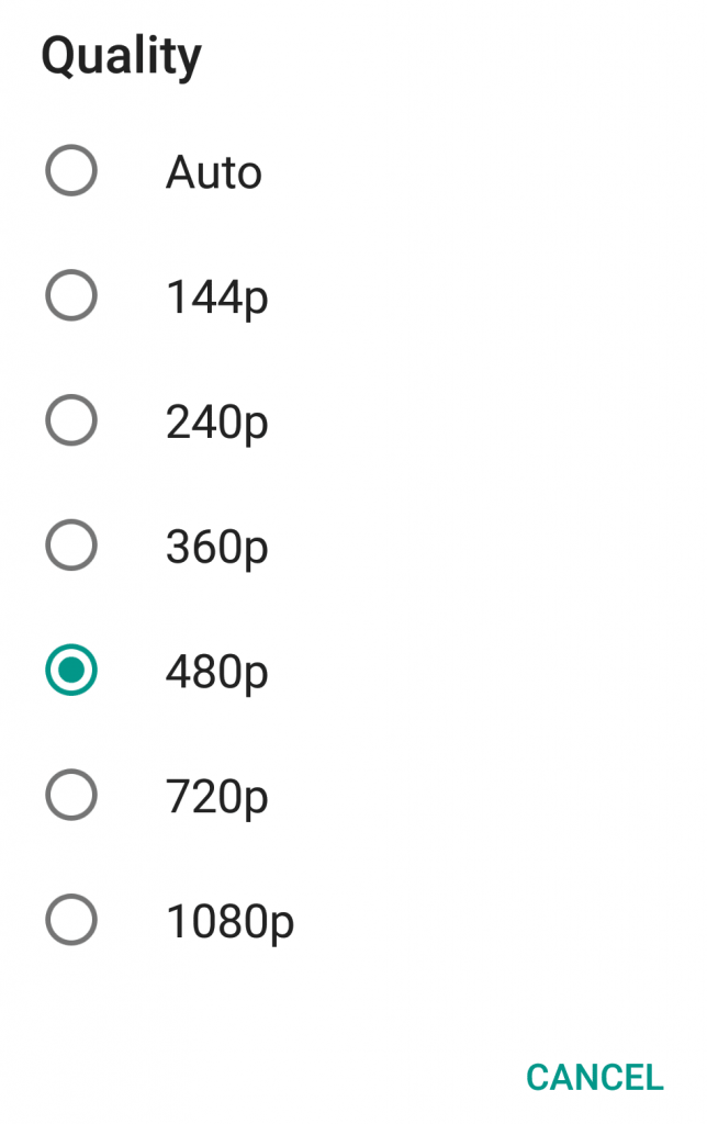 Choosing Default YouTube Video Quality