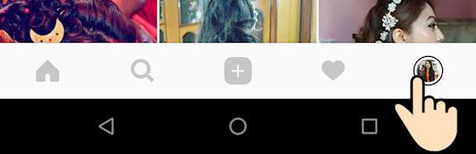 Tap on Profile