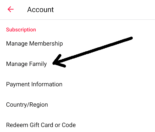 Manage Family Members