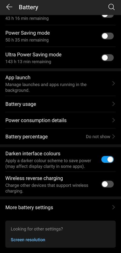Enabling Dark Mode on Huawei P30 Pro